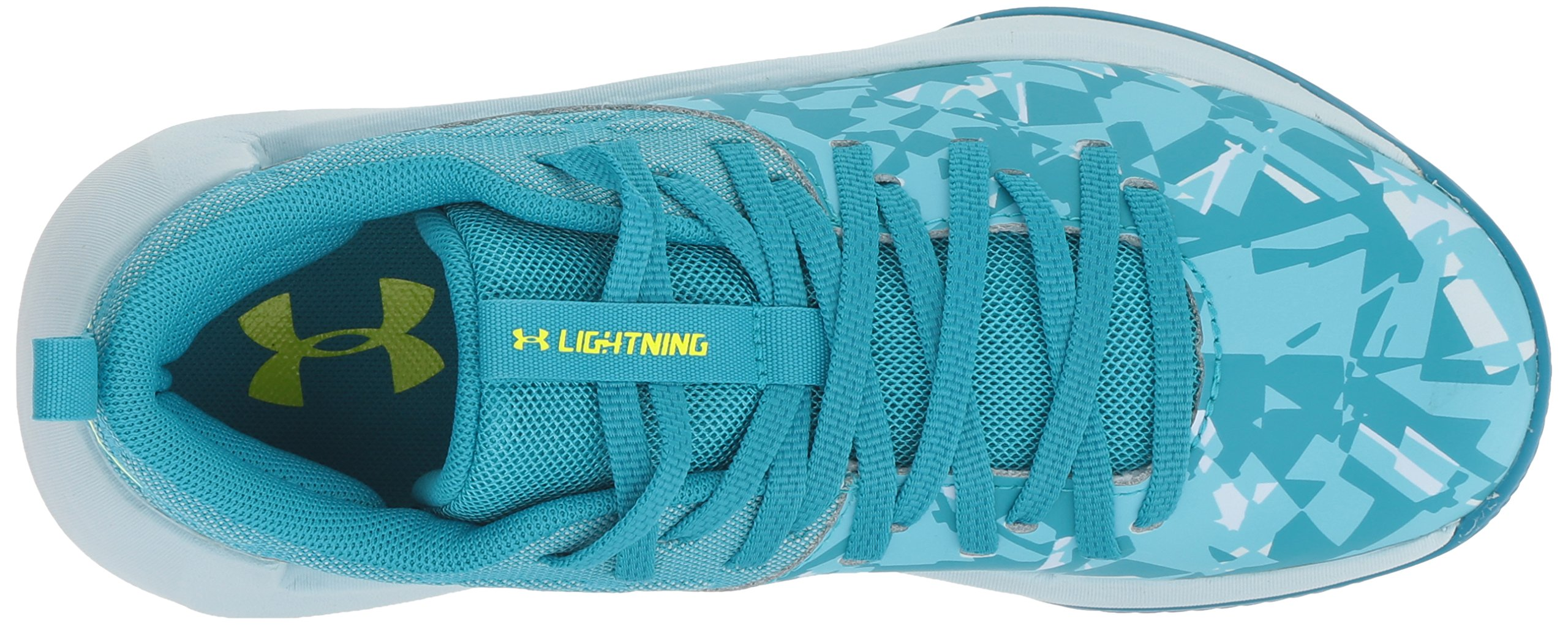 Under Armour Girls' Grade School Lightning 5 Basketball Shoe, Deceit (300)/Halogen Blue, 5.5 by Under Armour (Image #7)