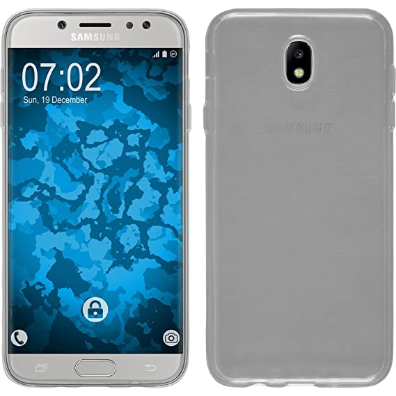 premium selection 239a2 d4d02 PhoneNatic Silicone Case for Samsung Galaxy J7 Pro Transparent Crystal  Clear - Cover + Protective foils