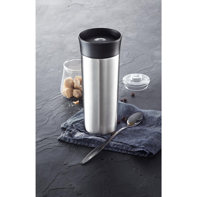 350 ml 360/°-Trink/öffnung Cromargan matt WMF K/üchenminis Thermo-Trinkbecher to go h/ält Getr/änke hei/ß und kalt
