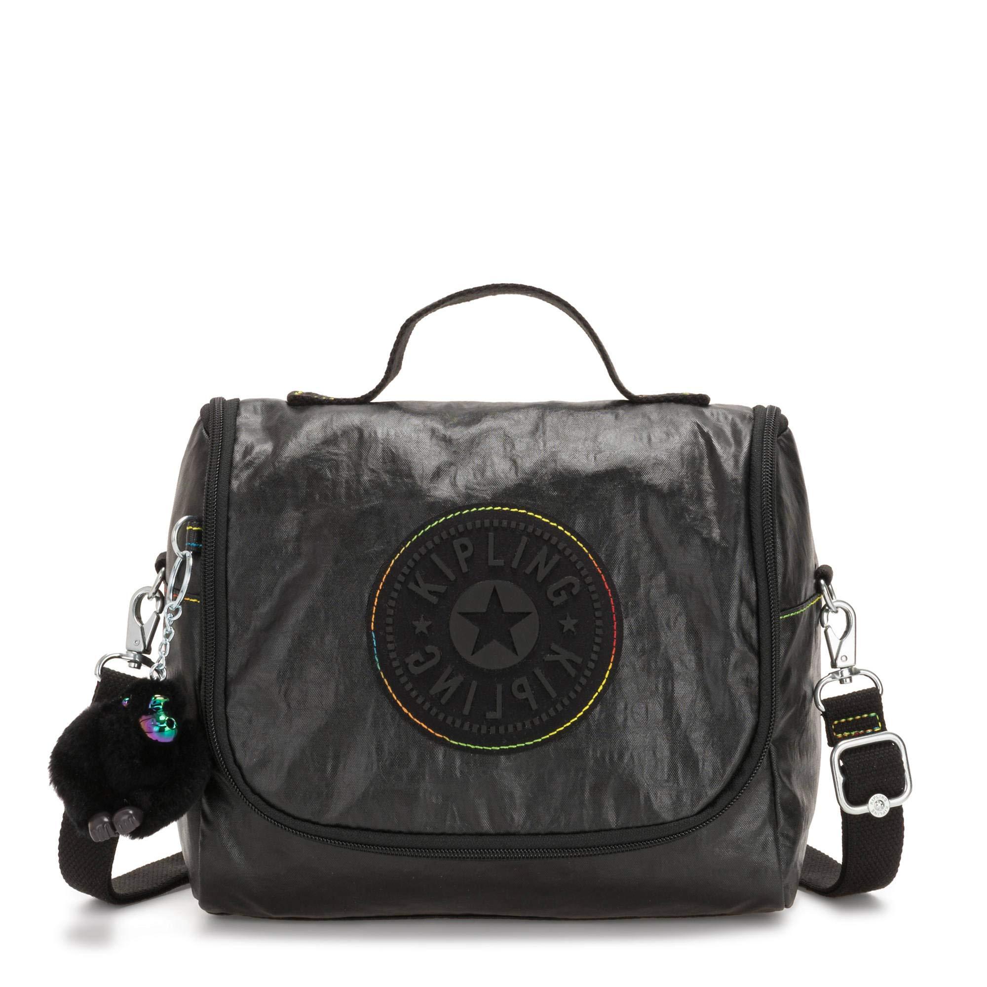 Kipling Kichirou Lunch Bag Black Lacq Glt