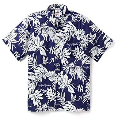4943db2b Reyn Spooner Men's New York Yankees MLB Classic Fit Hawaiian Shirt, Aloha  2019, Medium