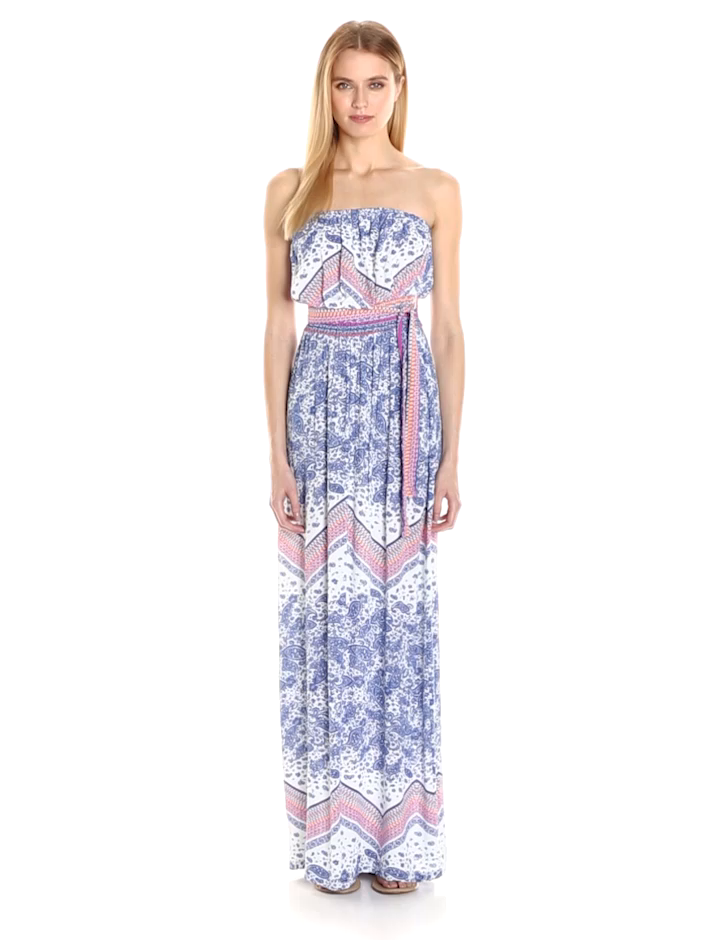 Green Dragon Women\'s Paisley Scarf Iman Maxi Dress at Amazon Women\'s ...