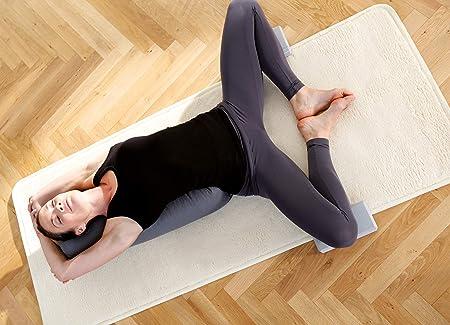 Yogistar Tapis de Yoga en Laine de Mouton /à Bordures
