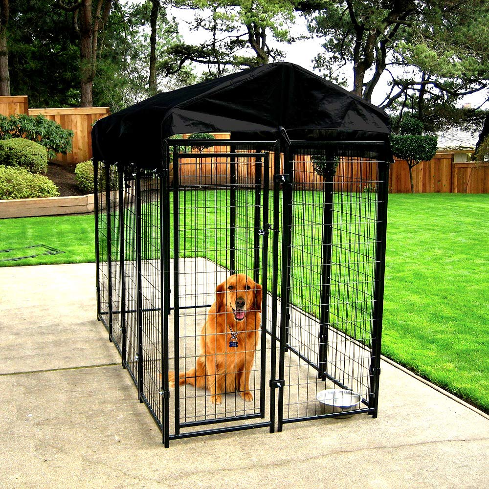 Kennel for Dogs Outdoor Welded Wire Big Dogs with Free Cover Durable Steel Construction - Skroutz Deals