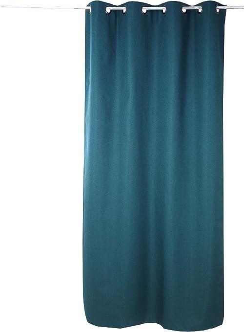 linder 978 85 375fr 140x240 uni rideau occultant polyester vert petrole 140 x 240 cm