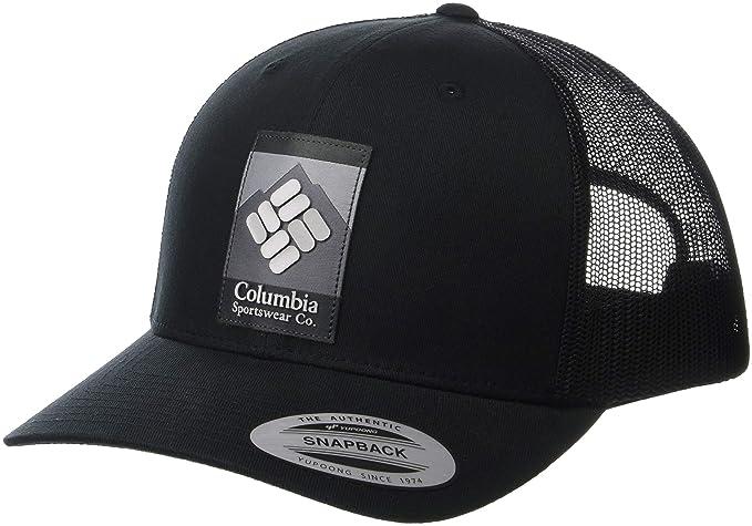 043b09e7 Columbia Men's Mesh Snap Back Hat, Black, One Size: Amazon.ca ...