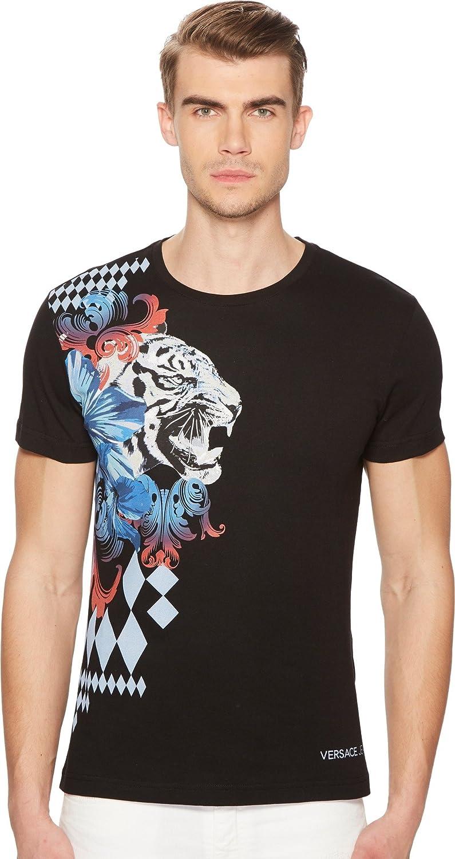 Versace Jeans SHIRT メンズ B076JF9877 5|ブラック ブラック 5