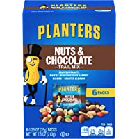 PLANTERS Nuts and Chocolate Trail Mix, 1.25 oz. Bags (6 Pack) - Trail Mix with M&M's Chocolate and Roasted Peanuts…
