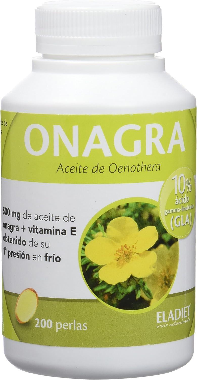 Eladiet Onagra, Aceite de Oenothera - 200 Perlas: Amazon.es: Salud ...