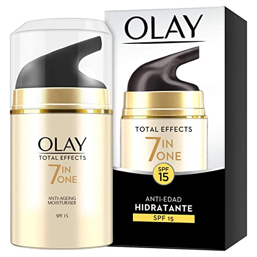 Olay Total Effects 7 en 1, Crema diurna facial (anti-edad, SPF15 piel seca) - 40 ml.