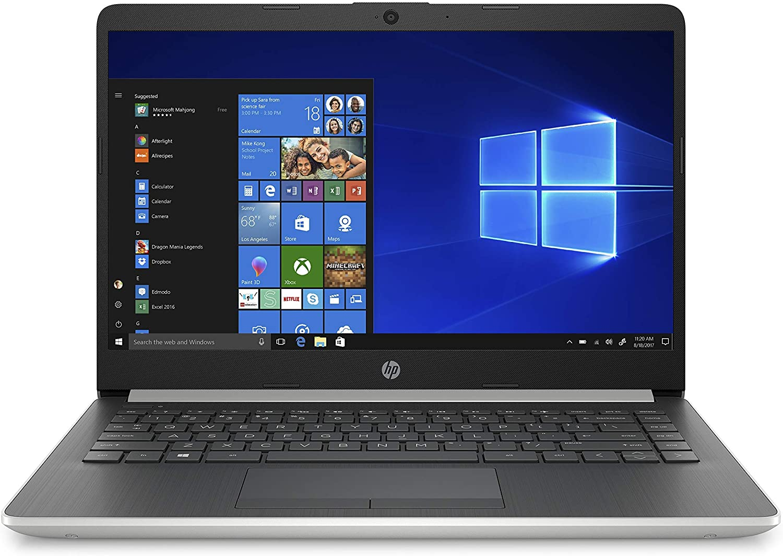 HP 14-Inch Laptop, Intel Core i3-8145U Processor, 4 GB SDRAM, 128 GB Solid-State Drive, Windows 10 Home in S Mode (14-df1020nr, Natural Silver) (Renewed)