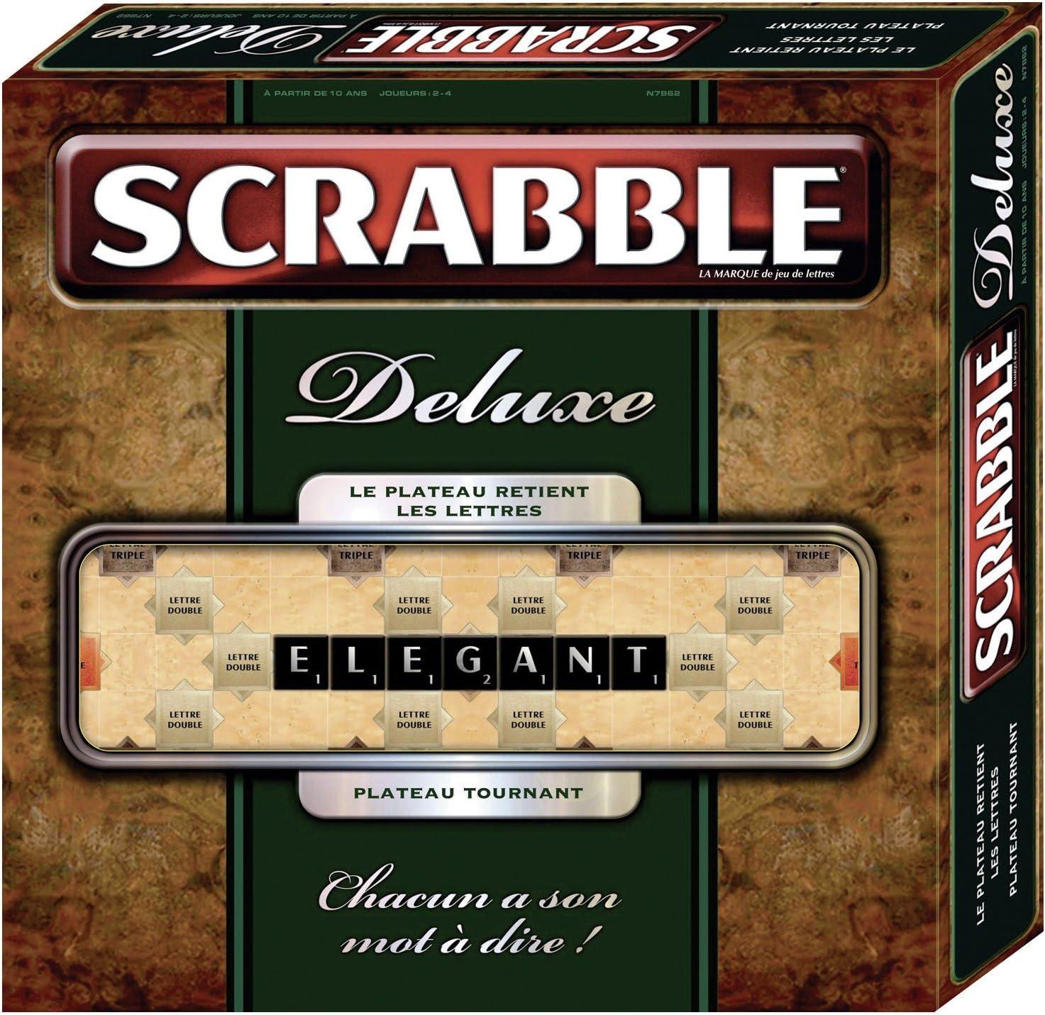 Mattel N7862 Scrabble de Luxe - Juego de Mesa (Contenido en francés): Amazon.es: Juguetes y juegos