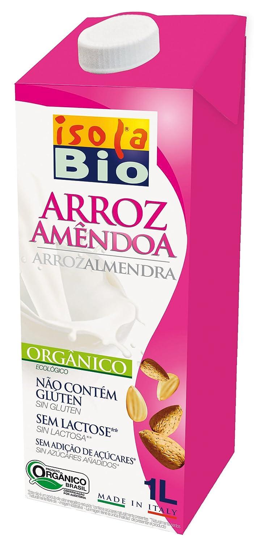 Isola Bio Bebida Vegetal de Arroz con Almendra - Paquete de 6 x 1000 ml - Total: 6000 ml: Amazon.es: Alimentación y bebidas
