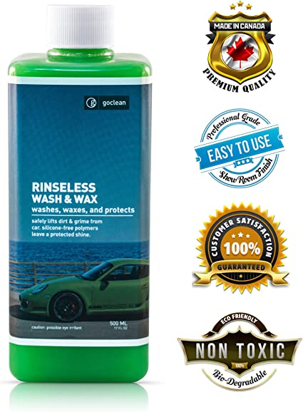 Goclean rinseless Wash & Wax – basada en la Planta, Biodegradable ...