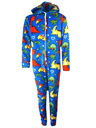 954567f987d6 Baby Boys Girls Fleece One Piece Pajamas Outfit All in One Dinosaurs ...