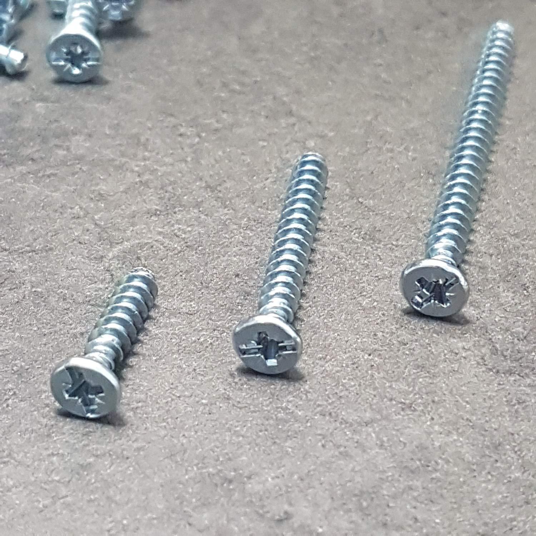 3,2x25mm Ger/äteschrauben mit Kombikreuzschlitz 15-25-40 mm Auswahl