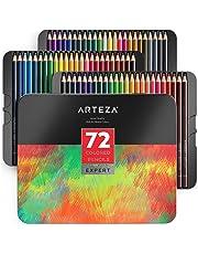 ARTEZA Estuche de lápices de colores para dibujo profesional | Caja de 72 unidades | Lápices de dibujo artístico | 72 colores numerados