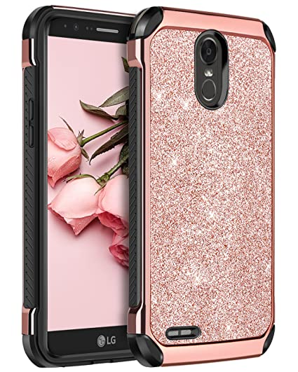 check out 6ed42 e4b83 LG Stylo 3 Case, LG Stylo 3 Plus Case, LG Stylus 3 Case, BENTOBEN Glitter 2  in 1 Hybrid Hard PC Laminated with PU Leather Shockproof Protective Case ...
