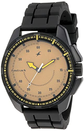 9. Fastrack Commando Analog Brown Dial Men's Watch -NK3084NP01
