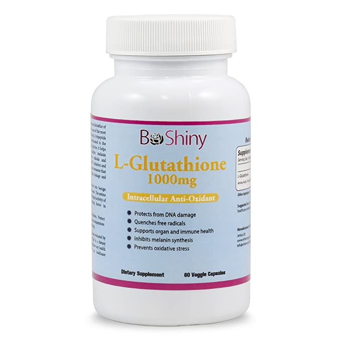 Glutatión Píldoras para blanquear la piel 1000mg Suplemento Antioxidante Anti envejecimiento Reduzca las manchas oscuras Desintoxicación saludable ...