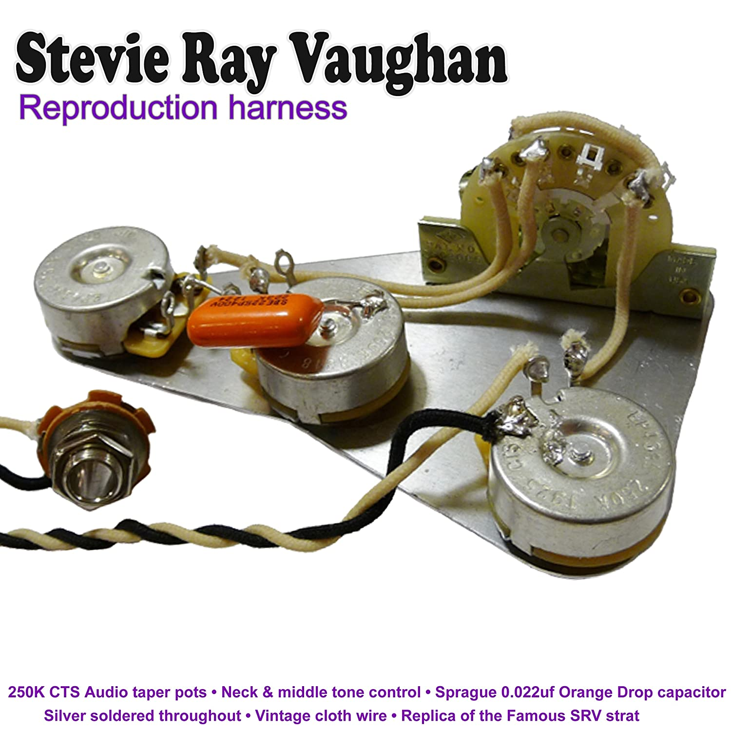 Stevie Ray Vaughan REPRODUCTION Cable Kit: Amazon.co.uk: Musical Instruments