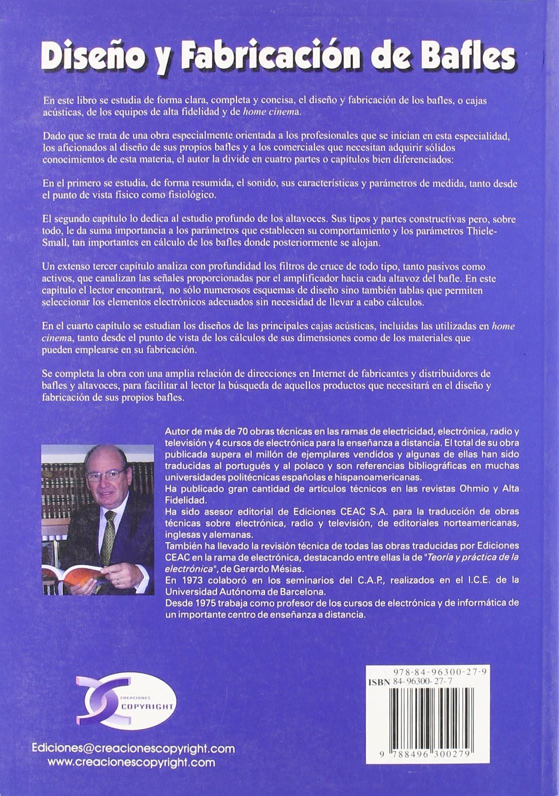 Diseño Y Fabricacion De Bafles: Francisco Ruiz Vasallo: 9788496300279: Amazon.com: Books