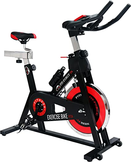 Fit-Force Bici Spinning Volante de Inercia de 24Kg: Amazon.es ...