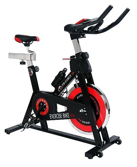 FIT-FORCE Bici Spinning Volante de inercia de 24kg: Amazon.es ...