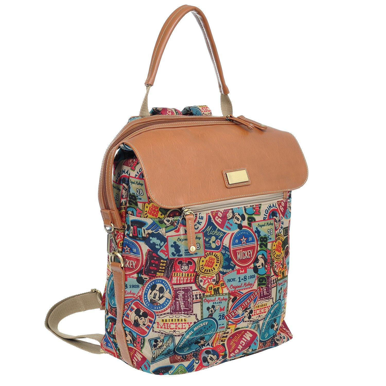 A33.Disney Mickey Mouse Women Backpack Travel School Laptop Diaper Bag Bookbag