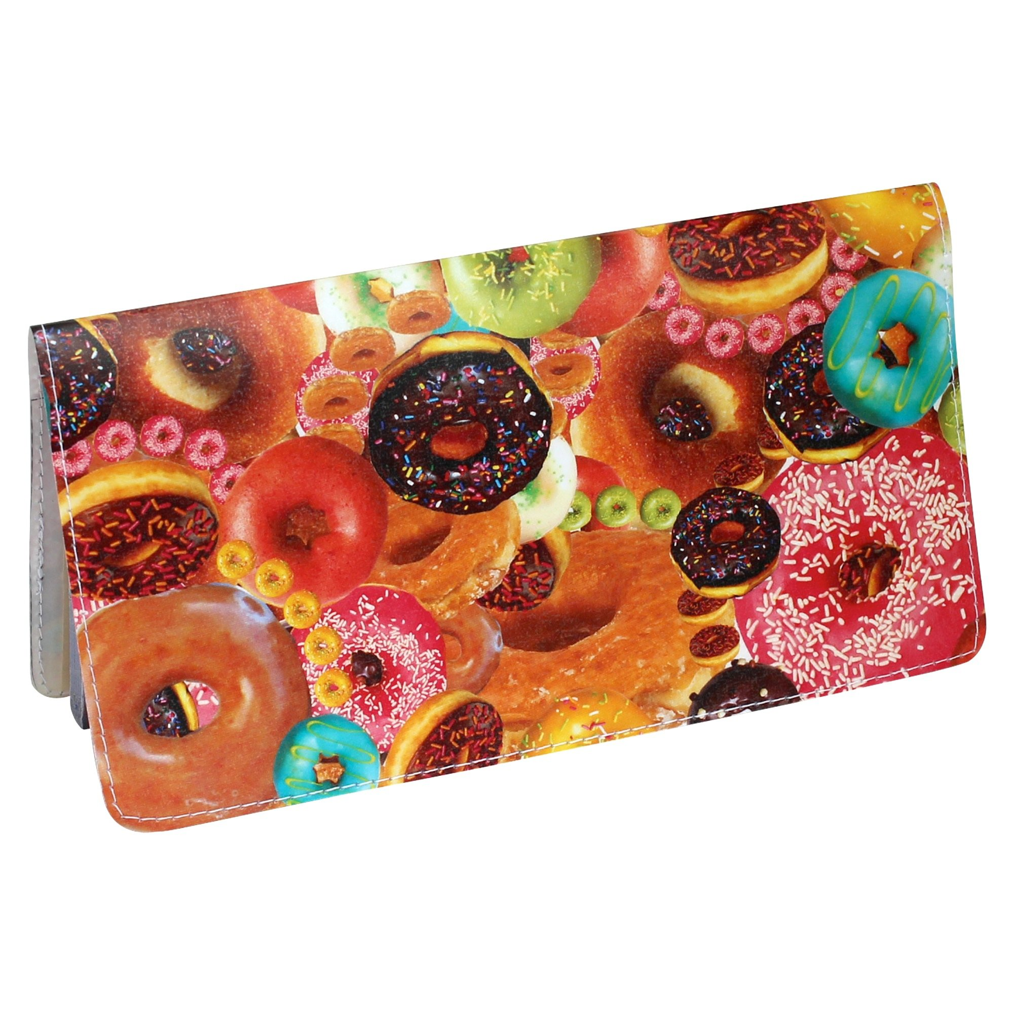 Donut Secret Collage Checkbook Cover