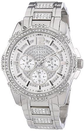 Guess W0286L1 mm Silver Steel Bracelet & Case Mineral Womens Watch