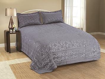 Cloth Fusion Splash 600TC Bed Cover- Single (60X90),Grey