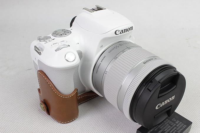 EOS 200d caso, bolinus hecho a mano mitad funda para cámara de ...