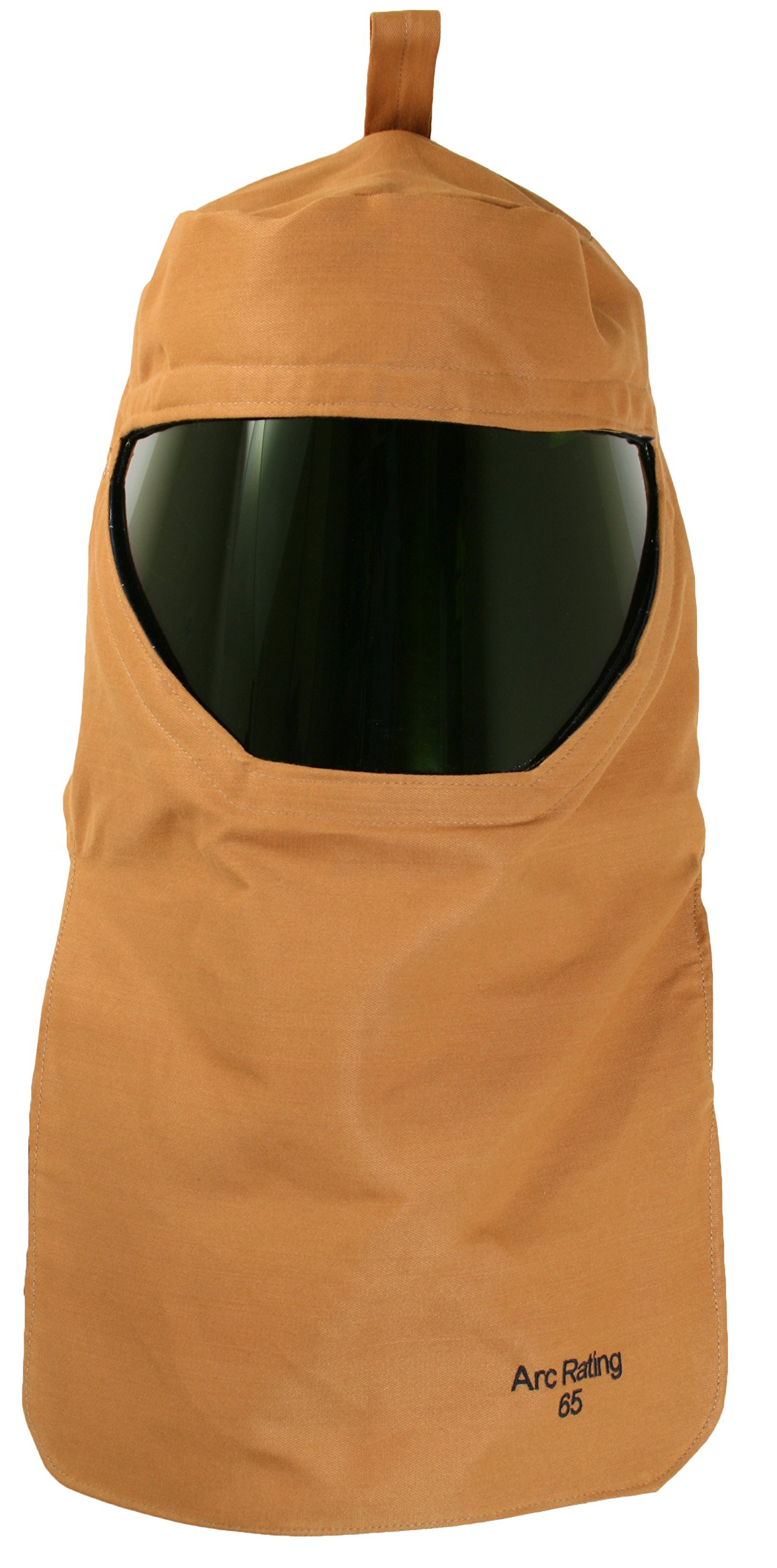 National Safety Apparel H65KDQTHH ArcGuard Arc Flash Hood with Universal Adapter, 65 Calorie, One Size, Caramel Brown