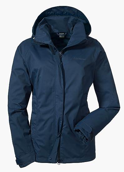 authentic detailed look good service Schöffel Jacket Easy L3 Damen Jacke, wasser- und winddichte Outdoorjacke  für Frauen, leichte und flexible Damen Regenjacke für jedes Wetter