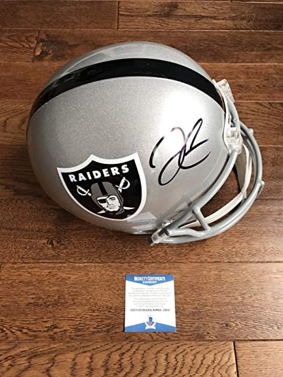 Derek Carr Autographed Signed Oakland Raiders Fs Helmet Signature - Beckett  Authentic a5d0c6a2f