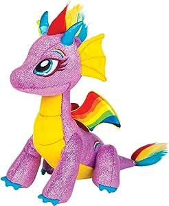 Glittershine Dragons -  Rainbow Glow PlushStuffed Plush Toy,25 x 13 x 21cm