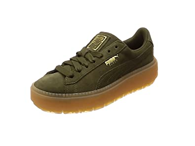 Puma Damen Sneakers Suede Platform Trace WNS  37.5 EUOliv (45)
