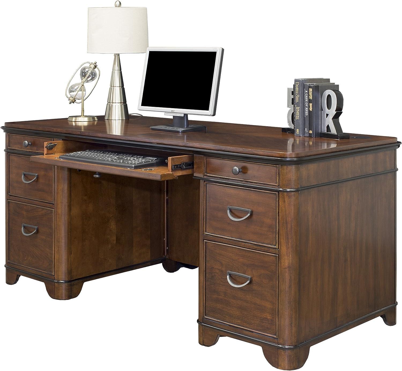 Martin Furniture Kensington Double Pedestal Executive Desk - Fully Assembled
