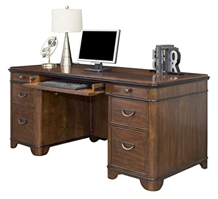 Martin Furniture Kensington Double Pedestal Executive Desk   Fully Assembled