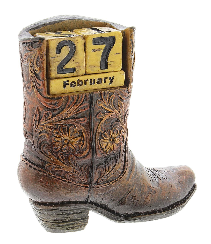 Amazon.com: Calendario de resina para botas de vaca: Office ...