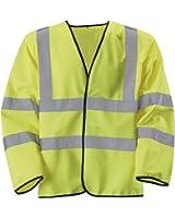 Blackrock Men's Hi-Vis Long Sleeve Waistcoat Yellow EN471 Class 3