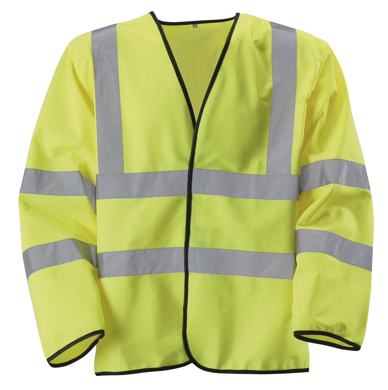 Class 3 Blackrock 80100 Yellow High Visibility Long Sleeve Waistcoat Small EN20471