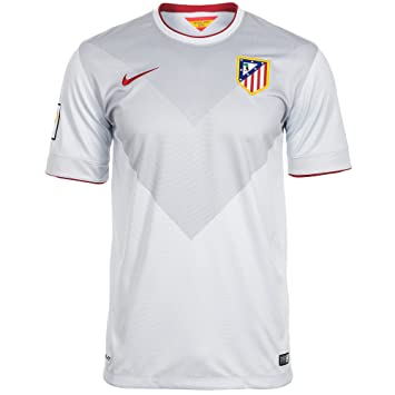 Nike ATM SS Away Stadium JSY - Camiseta unisex, color blanco/gris/rojo