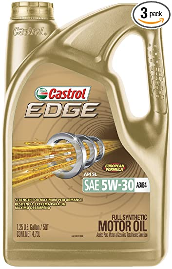 Castrol 03037 EDGE 5W-30 A3/B4 Advanced Full Synthetic Motor Oil, 5
