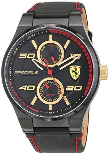 Reloj Scuderia Ferrari para Hombre 0830384, Negro (Negro/Dorado)