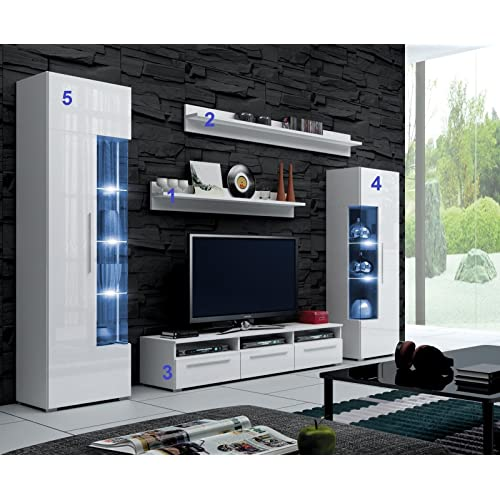 Ye Perfect Choice Console Unit, TV Stand, Living Room Set ROMEO, Wall Unit