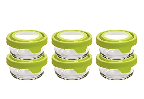 Anchor Hocking 1 Cup Round Glass Food Storage Containers With True Seal  Airtight Lids,