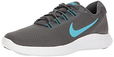 NIKE Men's LunarConverge Running Shoe, Dark Grey/Chlorine  Blue/Anthracite/Black,
