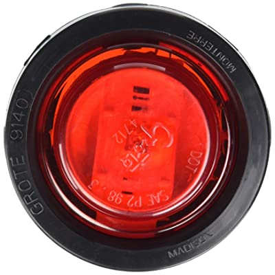 "Grote 47472 Red SuperNova 2 1/2"" LED Clearance Marker Lights (Kit (47122 + 91400 + 67001)): Automotive"